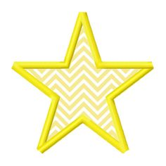 Star Applique Embroidery Design 2x2 3x3 4x4 5x5 by AppliqueCandy