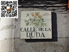 Calle de la Ruda de la Ciudad de Madrid en España