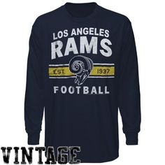 NFL Los Angeles Rams Vintage Team Arch Long Sleeve T-Shirt - Navy Blue by Junk Food. $22.95. Los Angeles Rams Vintage Team Arch Long Sleeve T-Shirt - Navy BlueTagless collarDistressed screen print graphics100% CottonOfficially licensed NFL productImported100% CottonDistressed screen print graphicsTagless collarImportedOfficially licensed NFL product