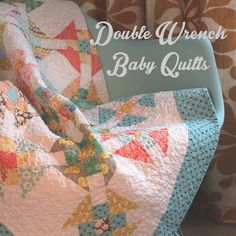 Double Wrench Baby Quilt by twinfibers
