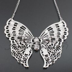 Metal Butterfly Fashion Necklace