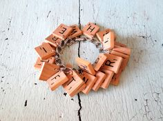 Scrabble Bracelet.