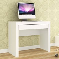 Mesa para Computador 1 Gaveta MSM 421 Branco - Móvel Bento | Lojas KD