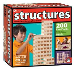 KEVA Structures 200 Plank Set (or other Keva planks) Activity Games, Activities, Brain Builders, Stacking Blocks, Stacking Toys, Thing 1, Kids Hands, Building Toys, Building Design