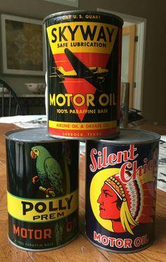 Rare Original 1-Quart Motor Oil Cans