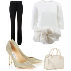 Just Classy by kreatingeventsandmore on Polyvore featuring polyvore fashion style Victoria Beckham Jimmy Choo