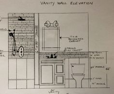 how to draw a bathroom