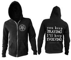 Men's 80% cotton 20% polyester zip up hoodie.