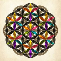 FLOWER OF LIFE - so many options to make this creative. Here's one.  i also like the idea of bnw sketch with watercolor