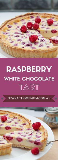 Raspberry White Chocolate Tart-pin