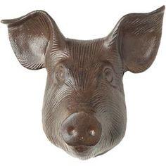 Pig Head Decor
