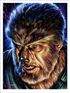 Universal Classic Monsters Art : The Wolfman 1941 by Jason Edmiston Retro Horror, Horror Icons, Vintage Horror, Horror Film, Monster Art, Monster Squad, Monster Movie, Monster Toys, Jason Edmiston