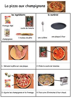 Discover recipes, home ideas, style inspiration and other ideas to try. Pizza In French, French Food, Pizza Recipes, Vegan Recipes, Cooking Recipes, Pizza Champignon, Cute Pizza, Classic French Dishes, How To Make Pizza