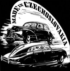 Tatra 1950 Car Illustration, Old Signs, Old Pictures, Old Cars, My Favorite Color, Illustrations Posters, Techno, Vintage Cars, Graphic Art