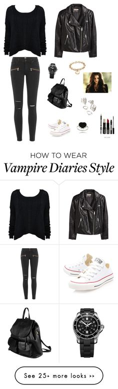"""""""School ❤"""" by francyrizzo on Polyvore featuring H&M, Paige Denim, Converse, Blue Nile, PARENTESI, Forever 21, Lord & Berry and Finesque"""