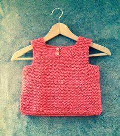 débardeur en tricot laine corail