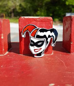 Stained Glass Brooch Harley Quinn DC comics Glass