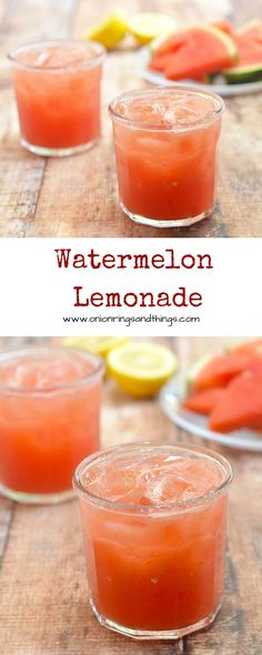 Sweet and tangy from dewy watermelon and freshly-squeezed lemon juice, this watermelon lemonade is a delicious way to refresh this summer