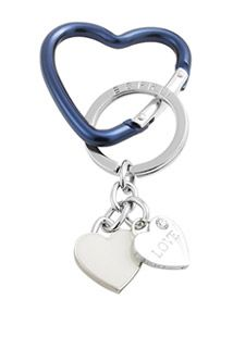 Esprit / Keyring with two heart charms