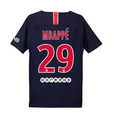 ac98df0e985 18/19 Paris Saint-Germain Kylian Mbappe Youth Home Jersey Preteen Boys  Fashion,