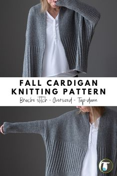Check out this oversized cardigan knitting pattern featuring a brioche stitch pattern. Check out this oversized cardigan knitting pattern featuring a brioche stitch pattern. Knit Cardigan Pattern, Sweater Knitting Patterns, Knit Patterns, Stitch Patterns, Rib Stitch Knitting, Knitting Stitches, Knitting Machine, Cardigan Verde, Sweater Cardigan