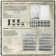 Tim Holtz / Idea-ology - File Tabs & Word Bands - CHA Winter 2012