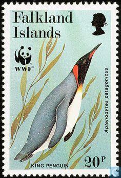 Postage Stamps - Falkland Islands - WWF-King Penguin