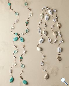 made these before -- lariat style or wear it like a scarf, with one end hanging behind your shoulder.. so fun!
