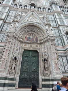 Ornate decoration abounds on this door and surrounding archway of this #Florence cathedral