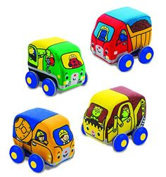 Purchase online the Melissa & Doug Pull-Back Construction Vehicles - Soft Baby Toy Play Set of 4 Vehicles today! We have all the latest toys and accessories your little one could ask for. Baby Play, Baby Toys, Kids Toys, Fun Baby, Toy R, Melissa & Doug, Creative Play, Imaginative Play, Fine Motor Skills