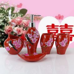 Find More Bathroom Accessories Sets Information about 2016 Toothbrush Holder Bathroom Set Banheiro Lemei Five Piece Bathroom Wash Wedding Suit Suite European Dental Shukoubei Resin ,High Quality toothbrush holder,China bathroom set Suppliers, Cheap toothbrush holder bathroom from Wooden box / crafts Store on Aliexpress.com