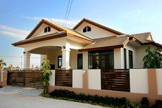 Bungalow Home Designs In the Philippines . Bungalow Home Designs In the Philippines . Magnificent Design Of Bungalow House Philippines Modern Bungalow House Design, Small Bungalow, Bungalow Interiors, Bungalow House Plans, Bungalow Homes, Small House Design, Modern Houses, New Home Designs, Cool House Designs