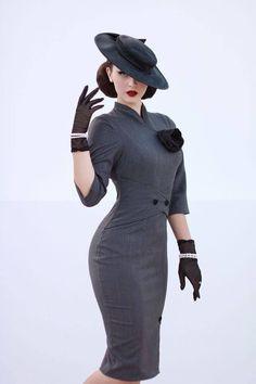 Idda van Munster designed this dress for vintagelabel miss Candyfloss. Its is hanging in my closet now, and I'm smitten. Idda van Munster designed this dress for vintagelabel miss Candyfloss. Its is hanging in my closet now, and I'm smitten. Vestidos Vintage, Vintage Dresses, Vintage Outfits, 50s Outfits, 50s Dresses, Retro Outfits 1950s, Retro Dress, Moda Vintage, Vintage Mode