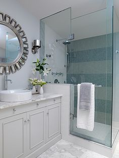 Bathroom by Sarah Richardson in a perfect world my bathroon woudl be styled by Sarah!