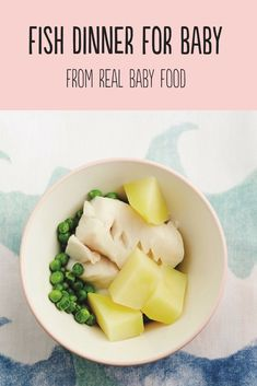 Introduce fish to babies with this easy and healthy first food recipe from Real Baby Food. #babyfoodrecipes #firstfoods #babyfood