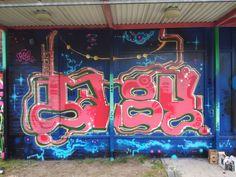 Santeri Karttunen (Roy). Graffiti at Väritä Kaukovainio, Oulu 2017.