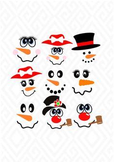 Snowman Faces, Cute Snowman, Snowman Crafts, Holiday Crafts, Snowman Ornaments, Snowman Wreath, Snowman Kit, Christmas Wood, Christmas Projects