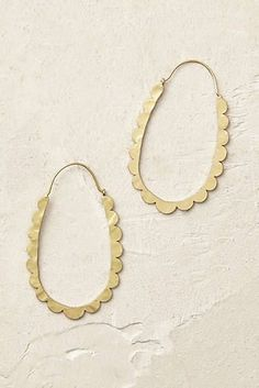Celeste Scalloped Hoop Earrings