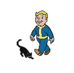 Free Fallout 4 Luck Perk Cross Stitch Pattern by Cross Stitch Quest