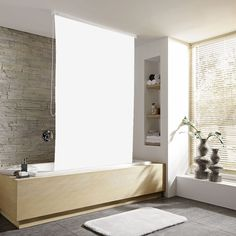 Browse the Kleine Wolke Vinyl White Shower Roller Blind. A perfect upgrade for…