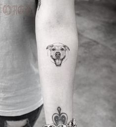 Smiling Little Dog Tattoo #DogTattooIdeas