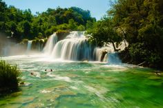 Krka waterfall - The Krka waterfall with ND filter