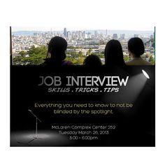 Job Interview Skills, Tricks & Tips tonight @usfca