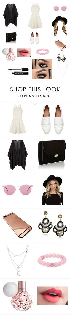 """Let me know when"" by keilydelgado on Polyvore featuring Topshop, Mansur Gavriel, Oliver Peoples, RHYTHM, Charlotte Russe, Palm Beach Jewelry and Marc Jacobs"