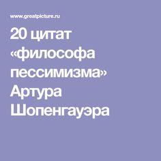 20 цитат «философа пессимизма» Артура Шопенгауэра