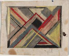 ¤ Gunta Stölzl (Swiss, born Germany. 1897–1983) Design for a Textile, 1923