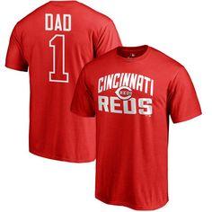 Cincinnati Reds #1 Dad T-Shirt - Red
