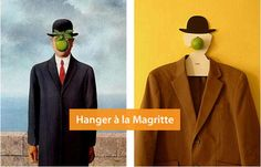 """Igor """"Rogix"""" Udushlivy has created a coat hanger with a shape inspired by René Magritte paintings. Magritte Paintings, Men Tumblr, Rene Magritte, The Son Of Man, Popular Culture, Art World, Oeuvre D'art, Les Oeuvres, Oil On Canvas"""