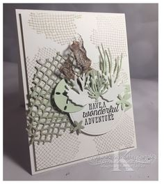 I thought I had pre-published a week's worth of projects for you. Octopus Card, Sea Texture, Nautical Cards, Beach Cards, Scrapbook Cards, Scrapbooking, Stamping Up Cards, Daisy, Creative Cards