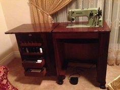 Bernina in a cabinet